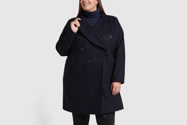 Goop x Universal Standard Wool Peacoat Jacket