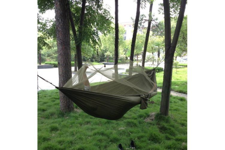 Enjoydeal Portable High-Strength Parachute Fabric Hammock Hanging Bed With Mosquito Net