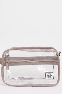 Herschel Chapter Exclusive Travel Bag in Clear and Ash Rose Pink