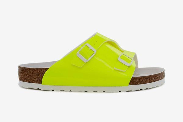 Fluorescent Zurich Sandal in yellow