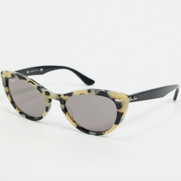 Rayban Cat Eye Sunglasses in Grey Marble