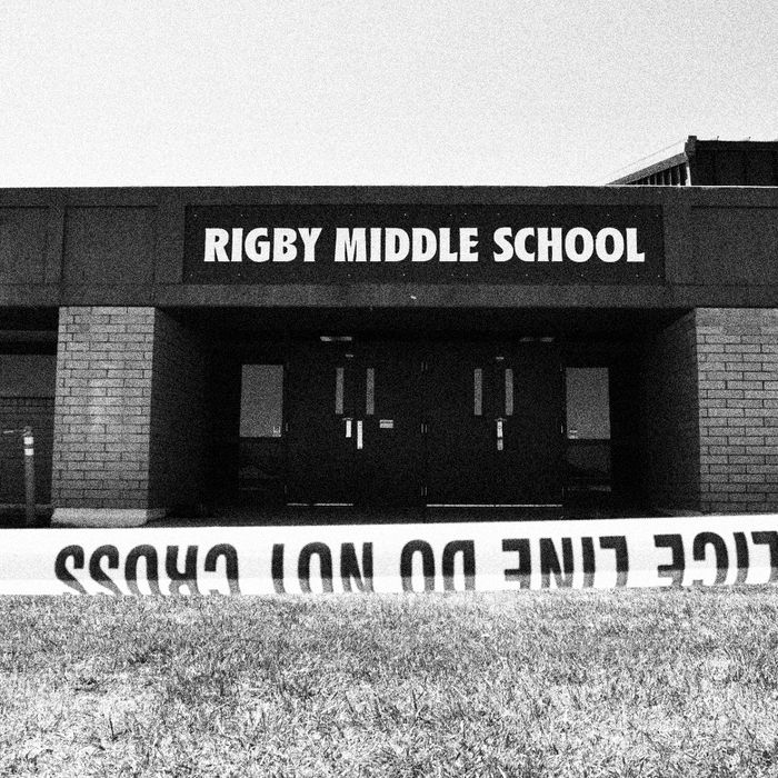 Rigby Middle School, where a sixth-grade girl shot two students and a custodian.