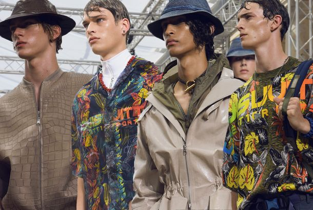 3f9de477ad5c6c Louis Vuitton Brought Tropical Prints to Paris Men'sBehind-the-scenes  photos from the show.