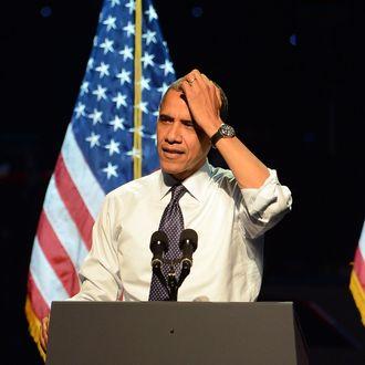 President Barack Obama speaks at the