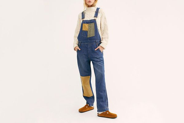 Free People Carpenter Patched Overalls