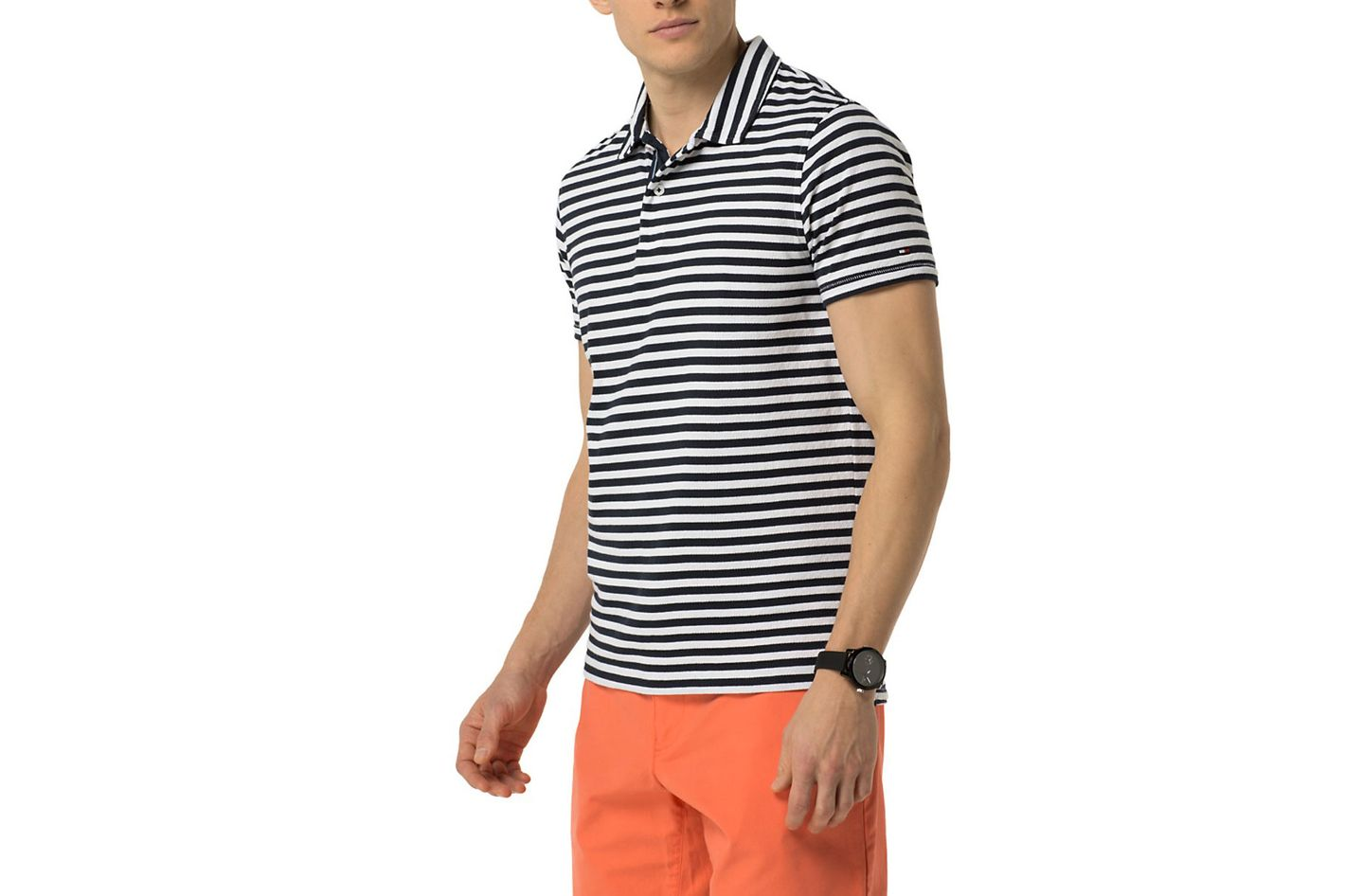 Slim Fit Stripe Polo