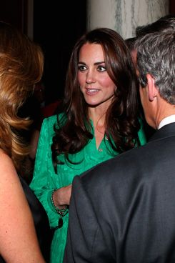 LONDON, UNITED KINGDOM - NOVEMBER 28:  Catherine, Duchess of Cambridge meets guests during a reception held by Queen Elizabeth II for members of the media to mark next years Diamond Jubilee at Buckingham Palace on November 28, 2011 in London, England.  (Photo by Gareth Fuller - WPA Pool/Getty Images)