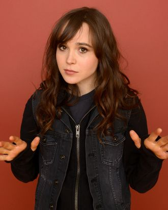 Actress Ellen Page poses for a portrait during the 2013 Sundance Film Festival at the Getty Images Portrait Studio at Village at the Lift on January 20, 2013 in Park City, Utah.