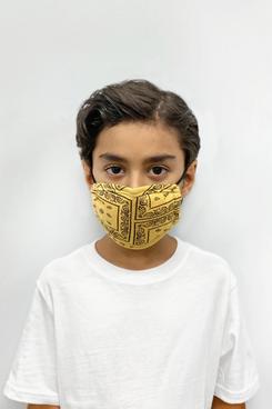 Masque facial de protection profonde pour enfants avec plusieurs bandes