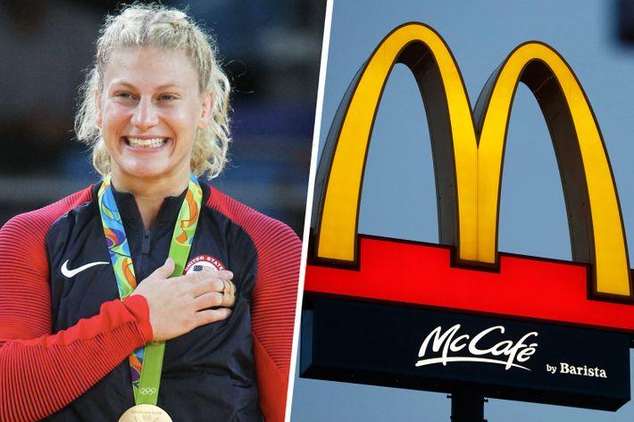 Kayla Harrison's Big Mac dreams were shattered.