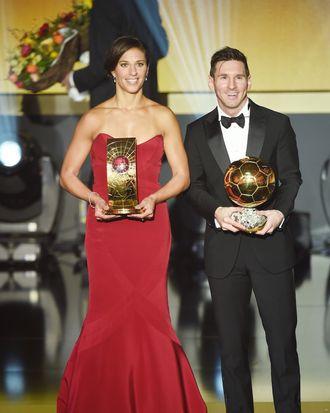 Carli Lloyd and Lionel Messi.