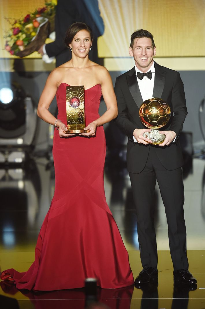 Carli Lloyd and Lionel Messi.