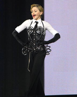 Madonna performs on stage during her
