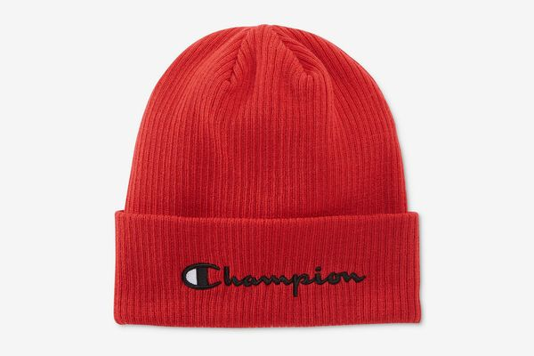 Champion Men's Cuffed Ribbed-Knit Beanie