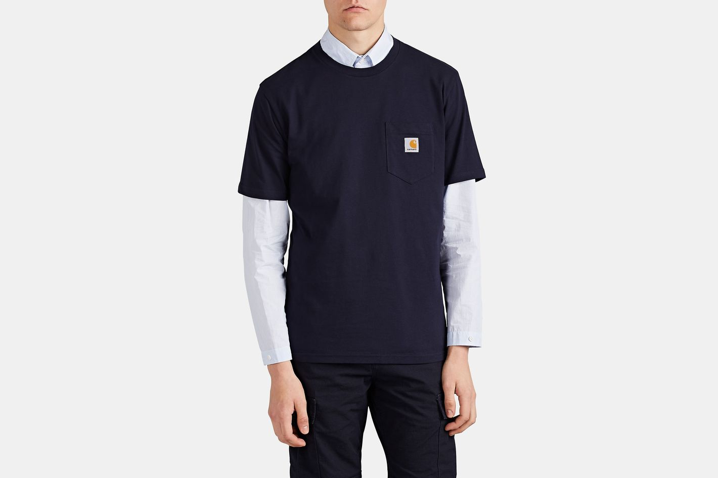 Carhartt Work in Progress Logo Cotton Jersey T-Shirt