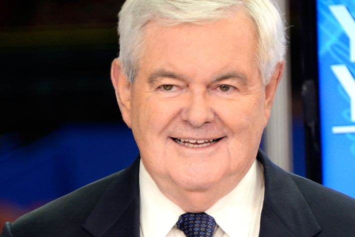 Thirsty Newt Gingrich.