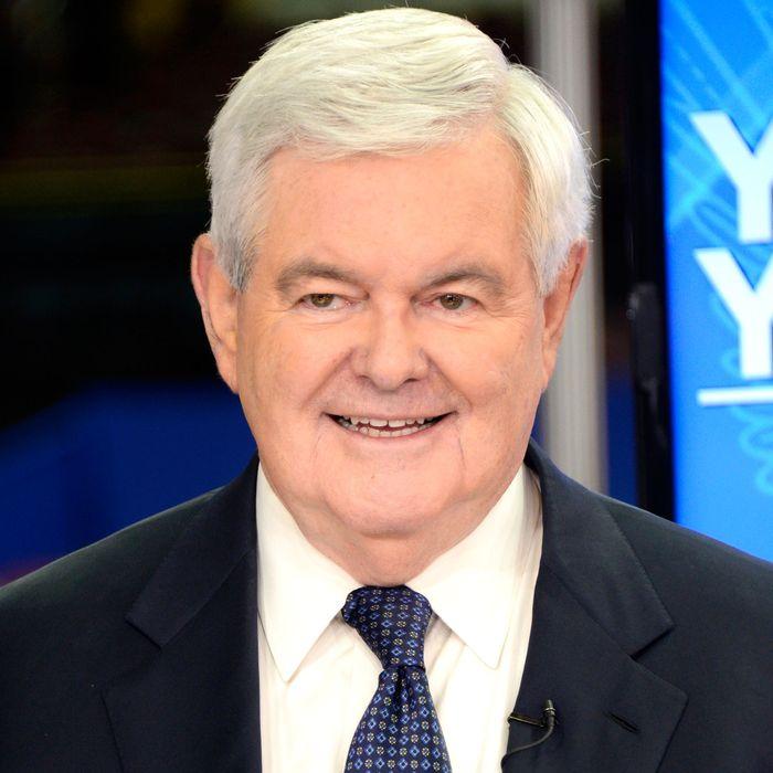Thirsty Newt Gingrich.