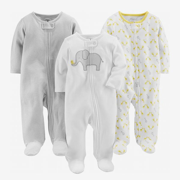 3 Unisex Baby Sleepsuits
