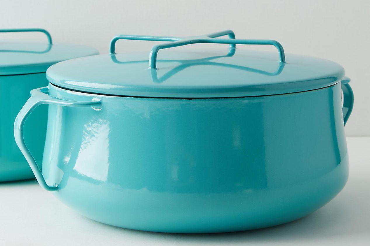 Dansk Kobenstyle Casserole Pot With Lid in Turquoise, 4-Quart