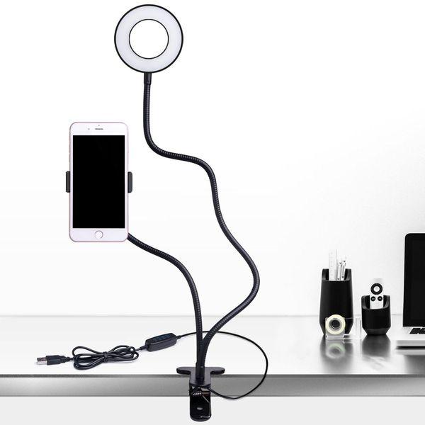 B-Land Cell Phone Holder with Selfie Ring Light