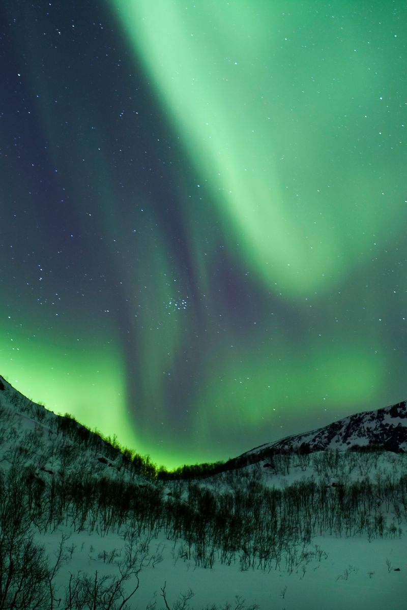 Aurora Borealis Northern Lights Tromso Norway Emerald