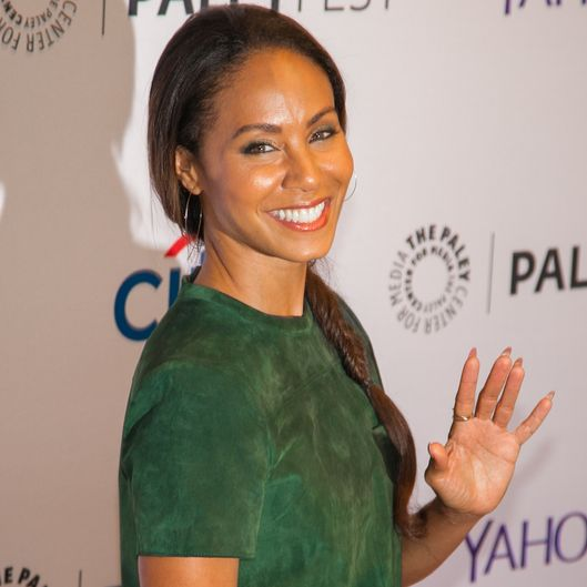 "NEW YORK, NY - OCTOBER 18:  Jada Pinkett Smith attends the 2nd Annual Paleyfest New York Presents: ""Gotham"" at Paley Center For Media on October 18, 2014 in New York, New York.  (Photo by Nomi Ellenson/FilmMagic)"