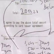 A Customer Left His Waitress a $2,000 Tip for Literally No Reason at All