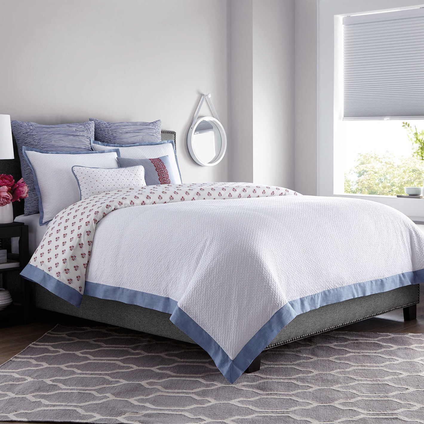 Real Simple French Riviera Duvet Cover in White