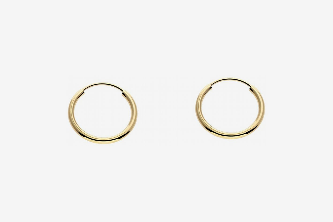 In Style Designz 14k Gold 10mm Hoop Earrings