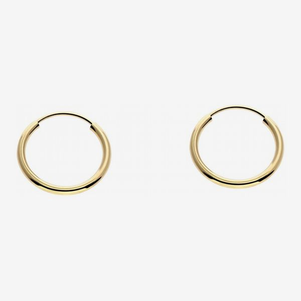In Style Designz 14k Gold 10mm Hoop Earrings