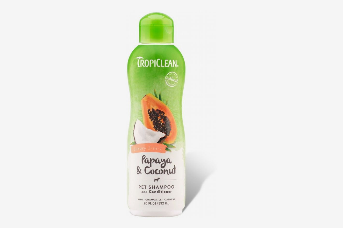 TropiClean Luxury 2-in-1 Papaya & Coconut Pet Shampoo and Conditioner