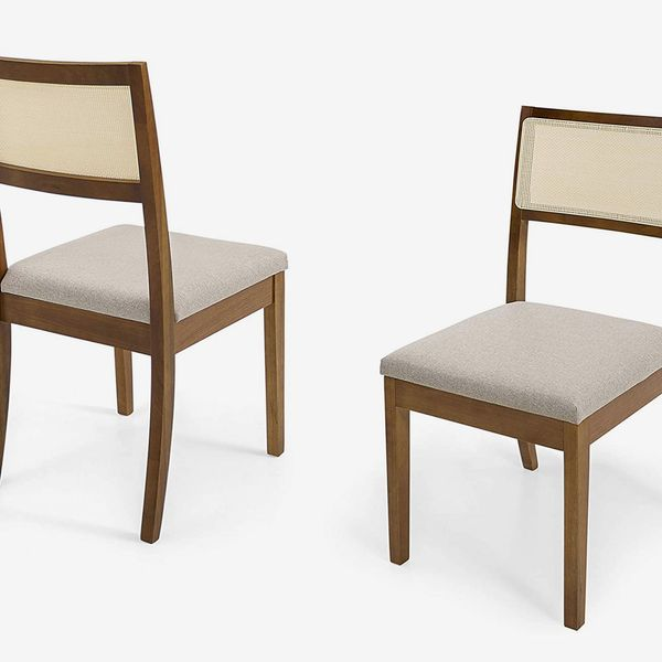 Herval Furniture Solid Wood Cane-Back Dining Chair