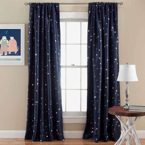 Star Curtain Panels — Room Darkening — Set of 2