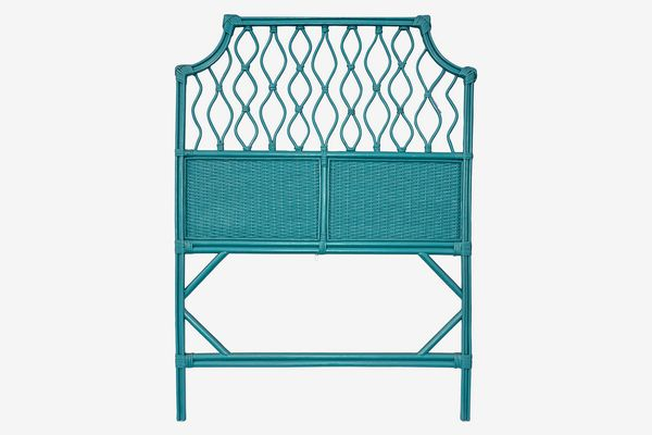 Eucatus Best Products and Gifts Teal Rattan Headboard