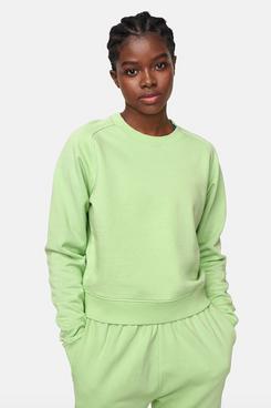 Outdoor Voices Cotton-Terry Crewneck Sweatshirt