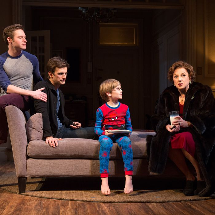 Mothers and SonsJohn Golden TheatreCast List:Tyne DalyFrederick WellerBobby SteggertProduction Credits:Sheryl KallerOther Credits:Written by: Terrence McNally
