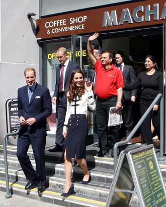 Kate Middleton, hiding how stressed out she probably is all the time, yet again.