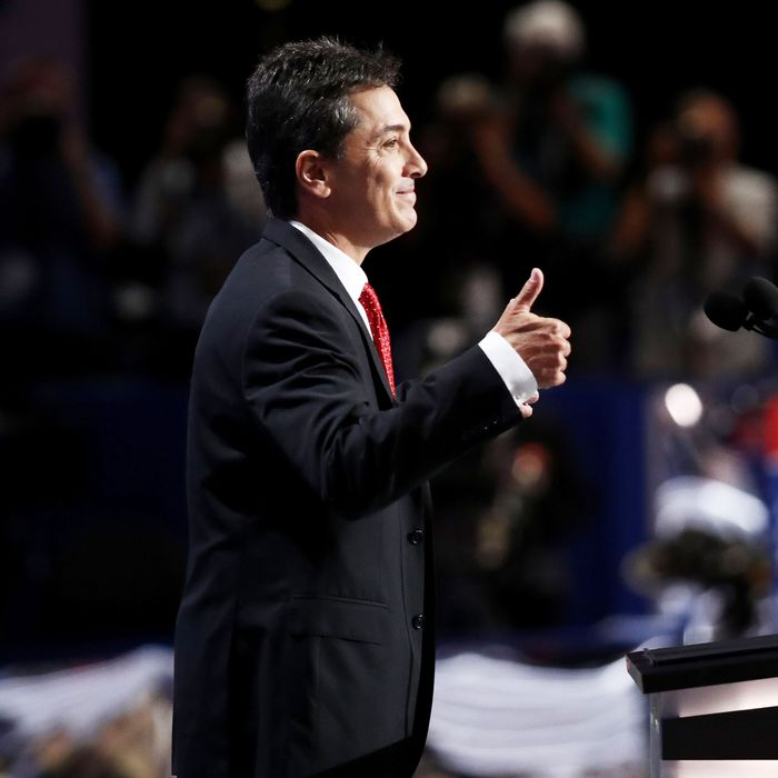 Scott Baio speaks at the Republican National Convention.