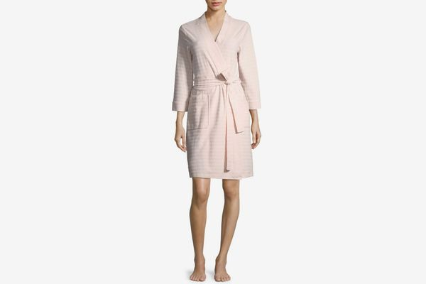 Saks Fifth Avenue Collection Stripe Terry Robe