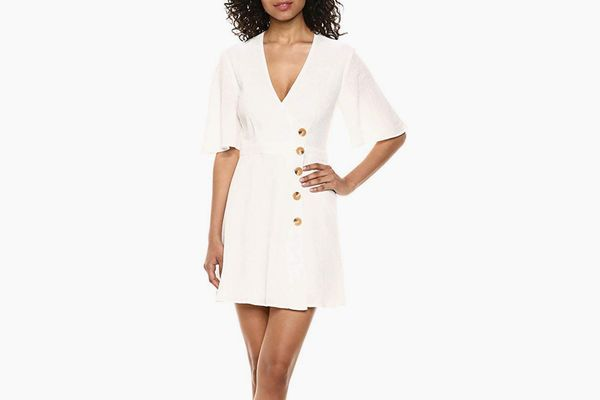 The Fifth Label Women's Movement Flutter Sleeve Short Wrap Top Mini Dress