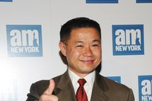43rd Comptroller of New York City John C. Liu attends a welcome party for new columnists at The Chelsea Room on May 18, 2011 in New York City.