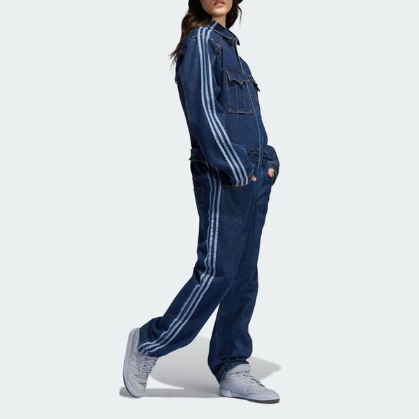 Adidas x Ivy Park Denim Jumpsuit in Dark Navy