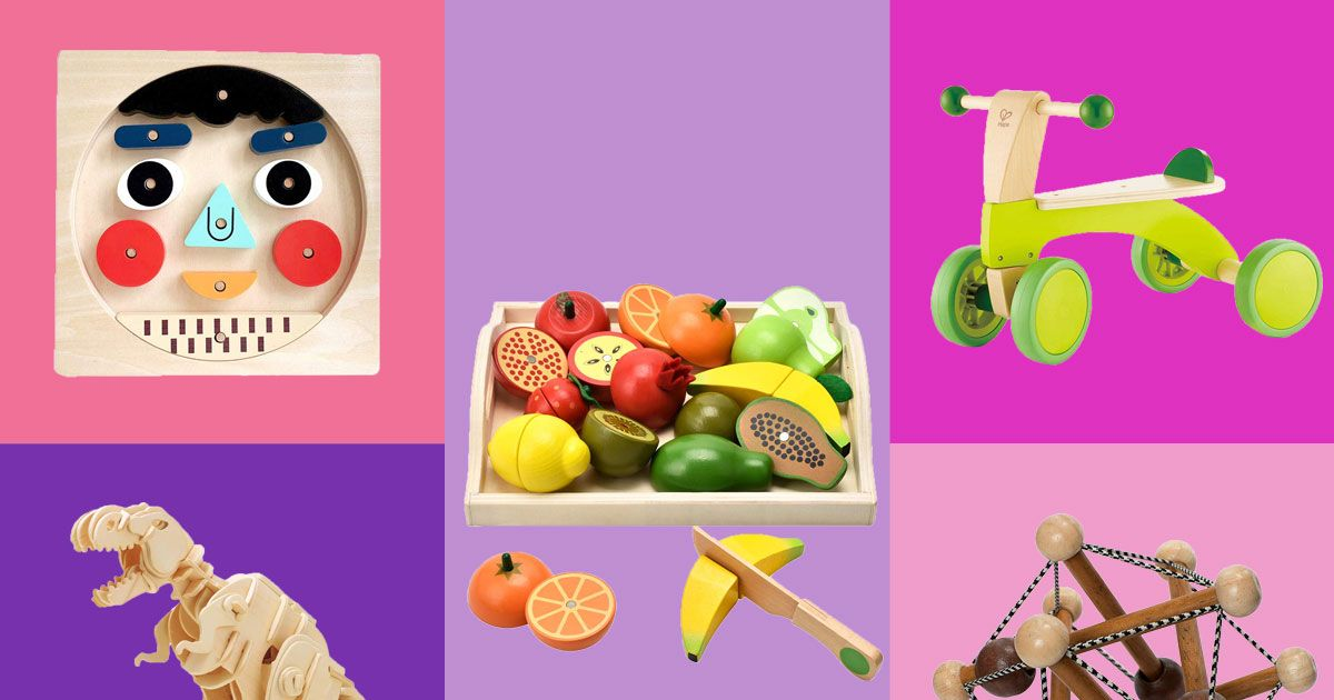24 Wooden Toys for Babies, Toddlers, and Kids