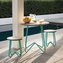 Novogratz Poolside Collection Bobbi Outdoor/Indoor Bistro Set