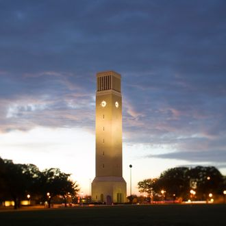 Albritton Tower on the campus of theTexas A&M University in College Station, Texas.