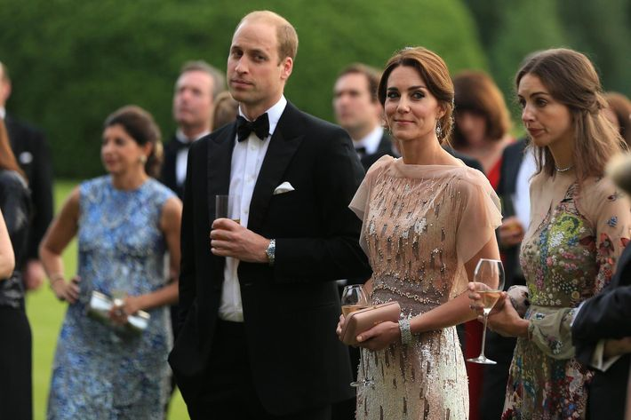 Prince William and Kate Middleton at an East Anglia's Children's Hospices charity dinner last night.