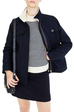 J.Crew Oversize Wool Melton Blend Workwear Jacket