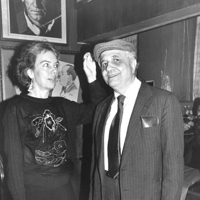 Two of New York's foremost film critics (husband and wife), Molly Haskell and Andrew Sarris.
