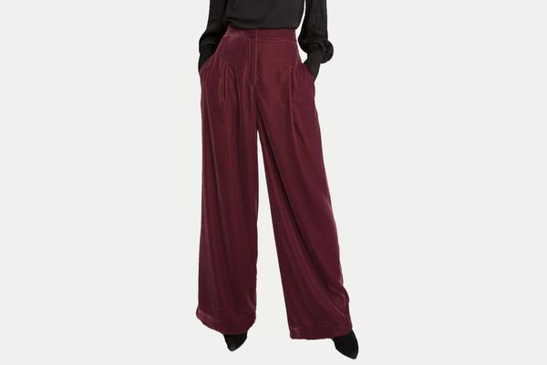 & Other Stories High Waisted Velvet Pants