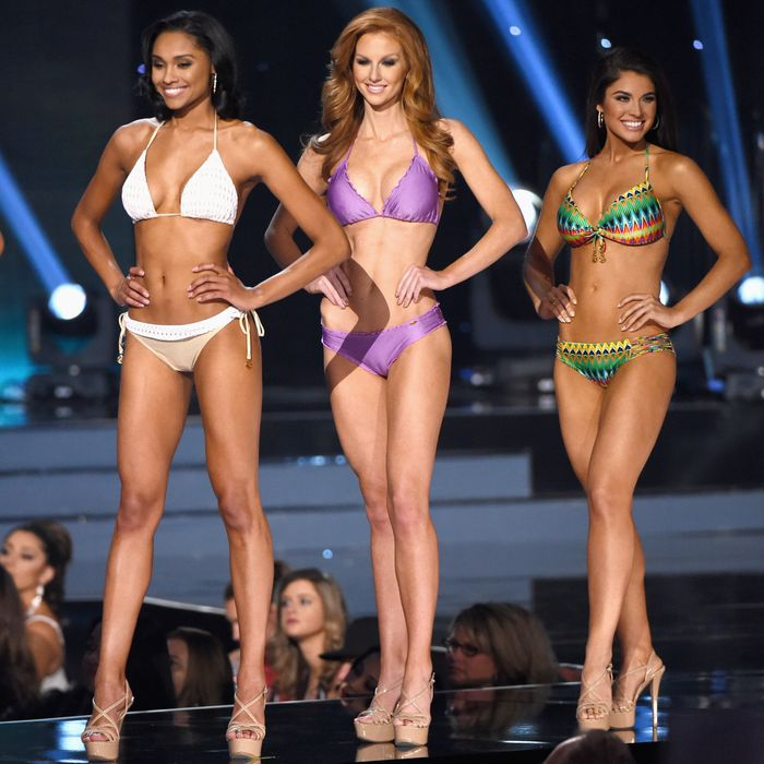 Scenes from Miss USA's bikini competition